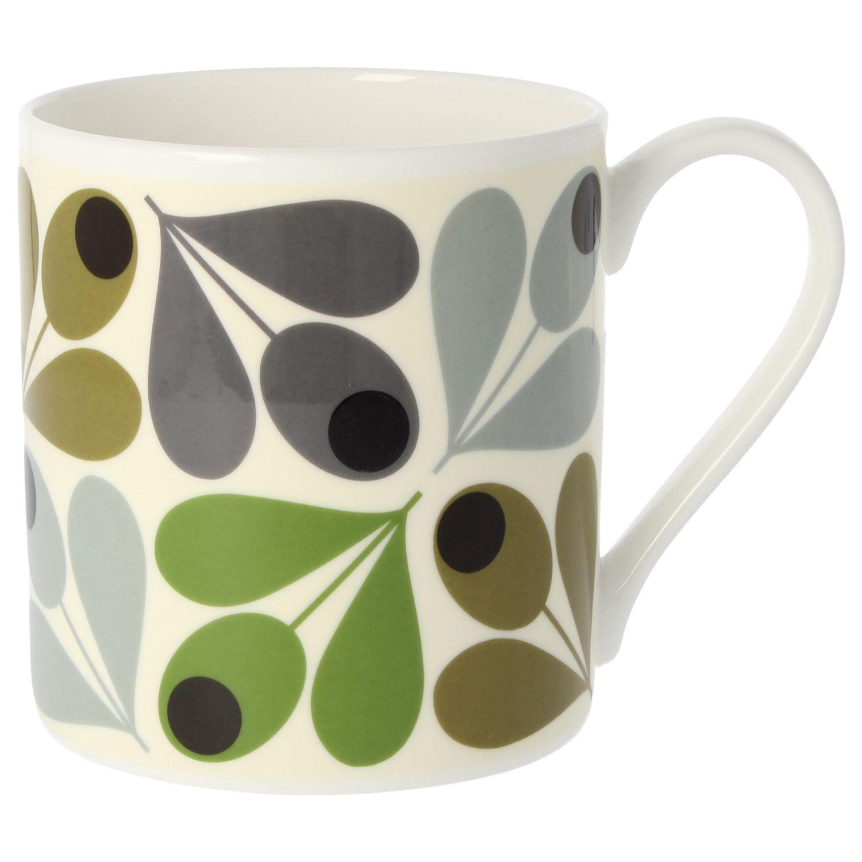 Orla Kiely Orla Kiely Multi Acorn Mug, 350ml, Green