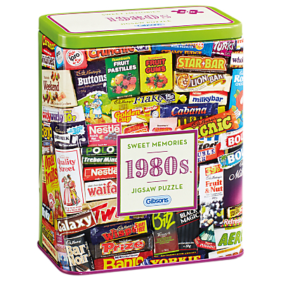 Image of Gibsons 1980 Sweet Tin Jigsaw Puzzle, 500 pieces