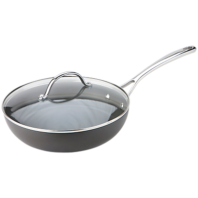 Joe Wicks Non-Stick Saute Pan with Lid, 26cm, Grey