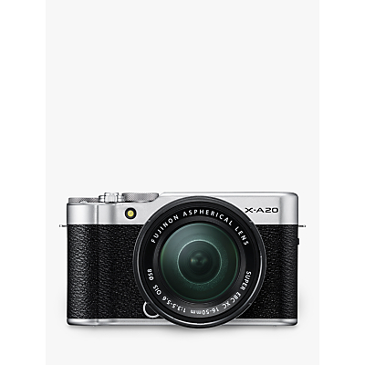 Fujifilm X-A20 Compact System Camera with XC 15-45mm OIS Lens, HD 1080p, 16.3MP, Wi-Fi, 3
