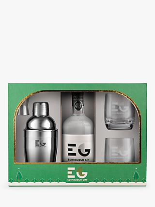 Edinburgh Gin Cocktail Shaker And Glasses Gift Set 70cl