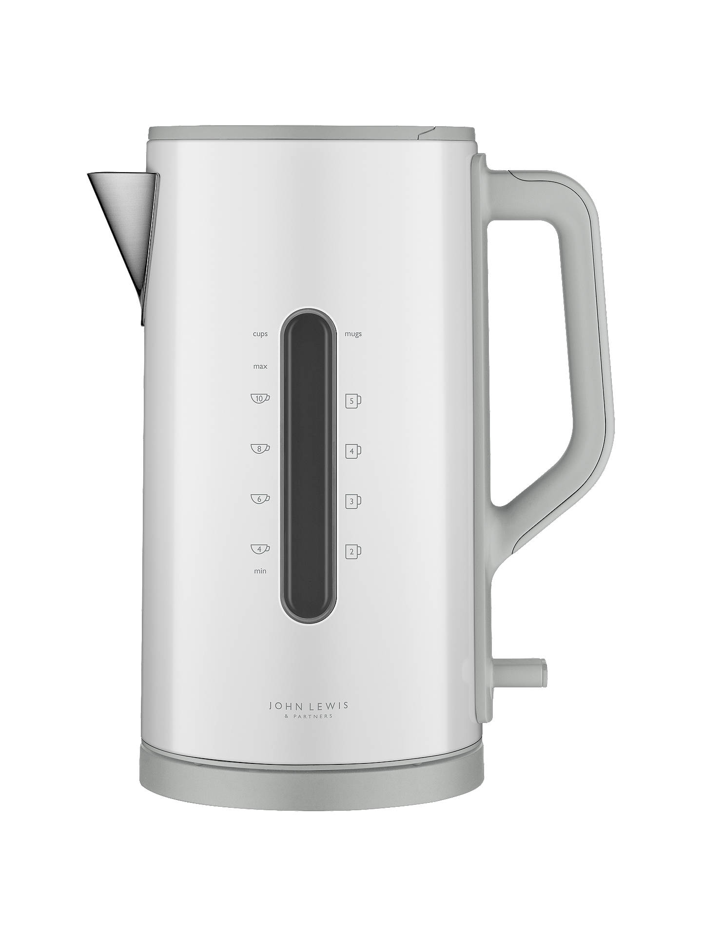 Buy John Lewis & Partners Simplicity Electric Kettle, White Steel Online at johnlewis.com