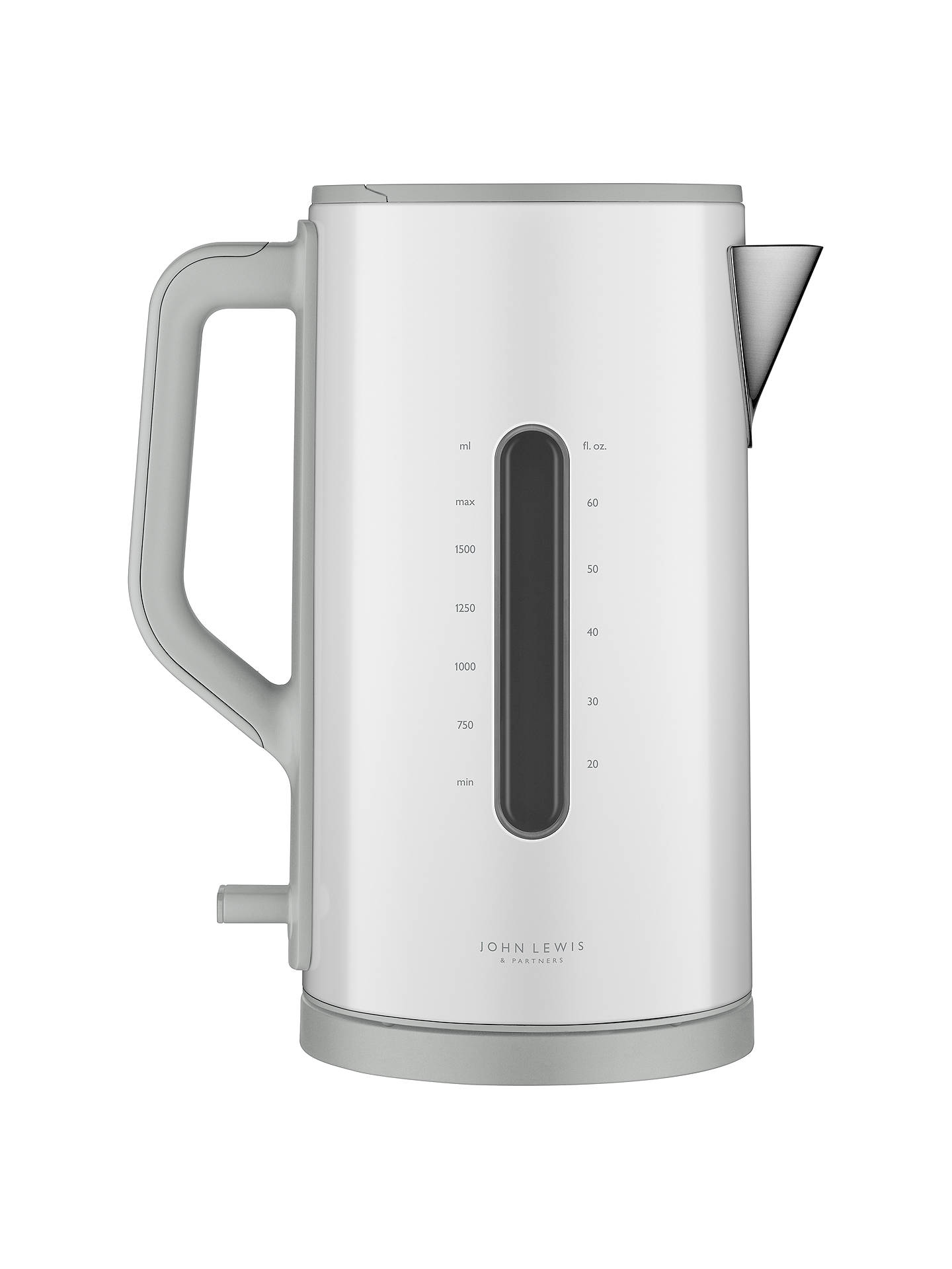 BuyJohn Lewis & Partners Simplicity Electric Kettle, White Steel Online at johnlewis.com