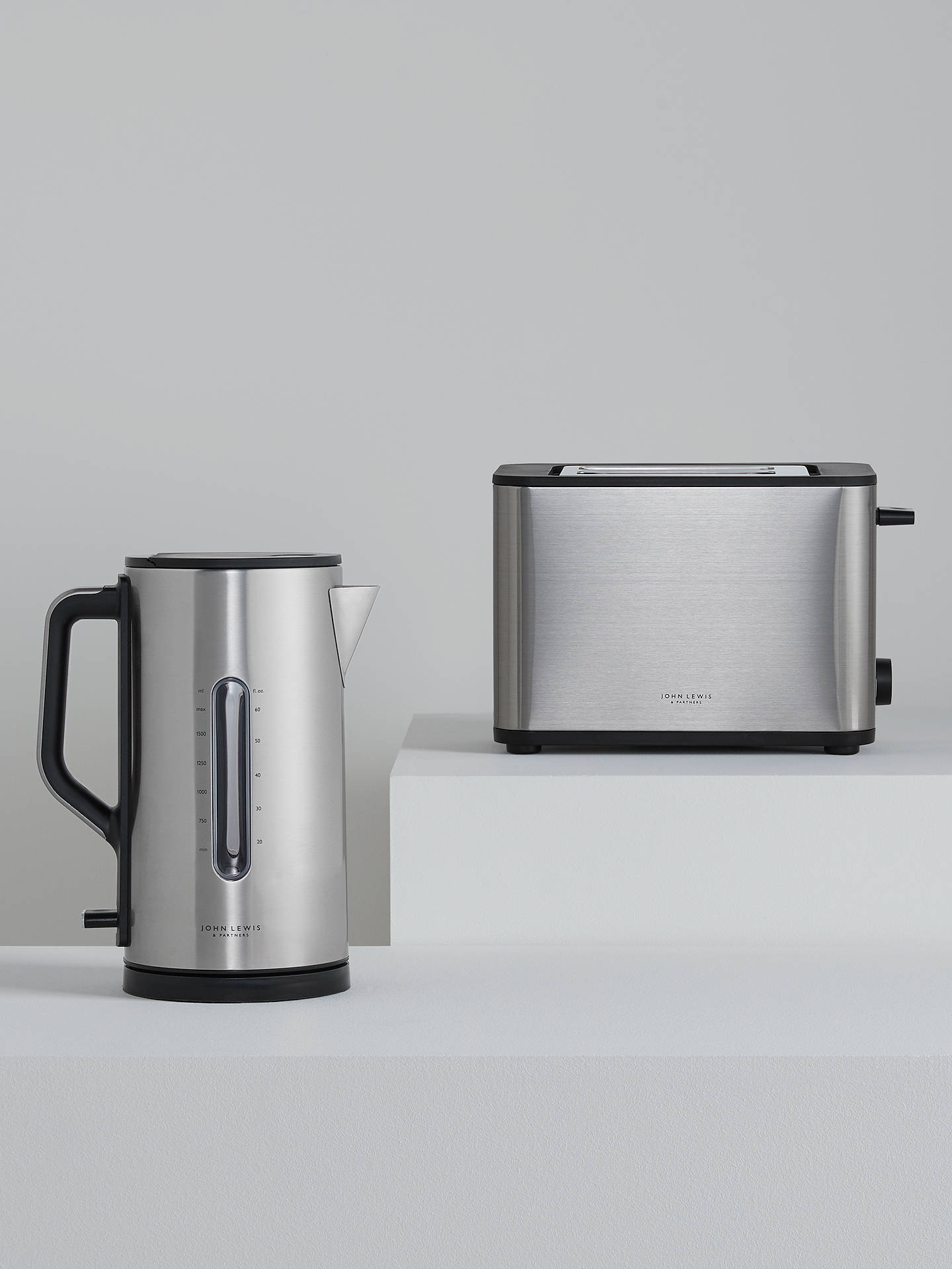 Buy John Lewis & Partners Simplicity 2-Slice Toaster, Stainless Steel Online at johnlewis.com