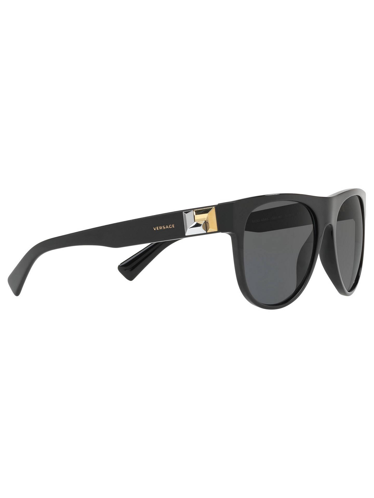 8c60bd1cc98b Versace VE4346 Men s Embellished Square Sunglasses at John Lewis ...