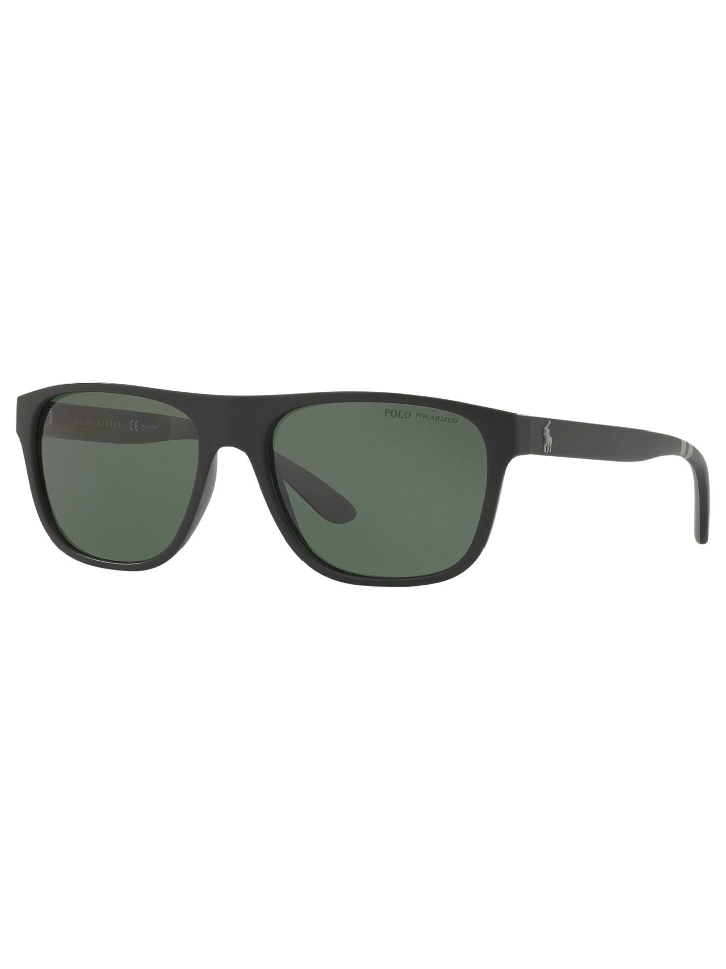 232ca7045e56 ... where to buy buypolo ralph lauren ph4131 mens polarised rectangular sunglasses  matte black green online at