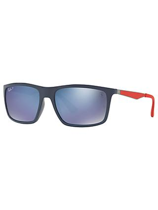 9b3e36fd3a Ray-Ban RB4228 Men s Polarised Rectangular Sunglasses