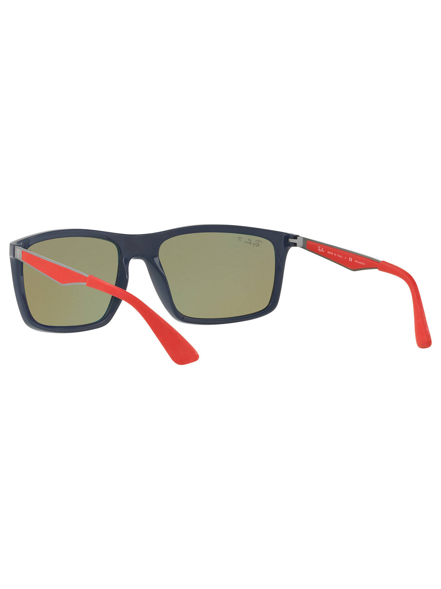 BuyRay-Ban RB4228 Men's Polarised Rectangular Sunglasses, Grey/Blue Online at johnlewis.com