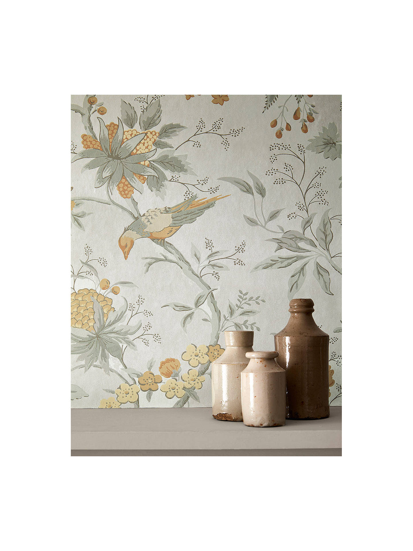 Buy The Little Greene Paint Company Brooke House Wallpaper, Cinder Online at johnlewis.com