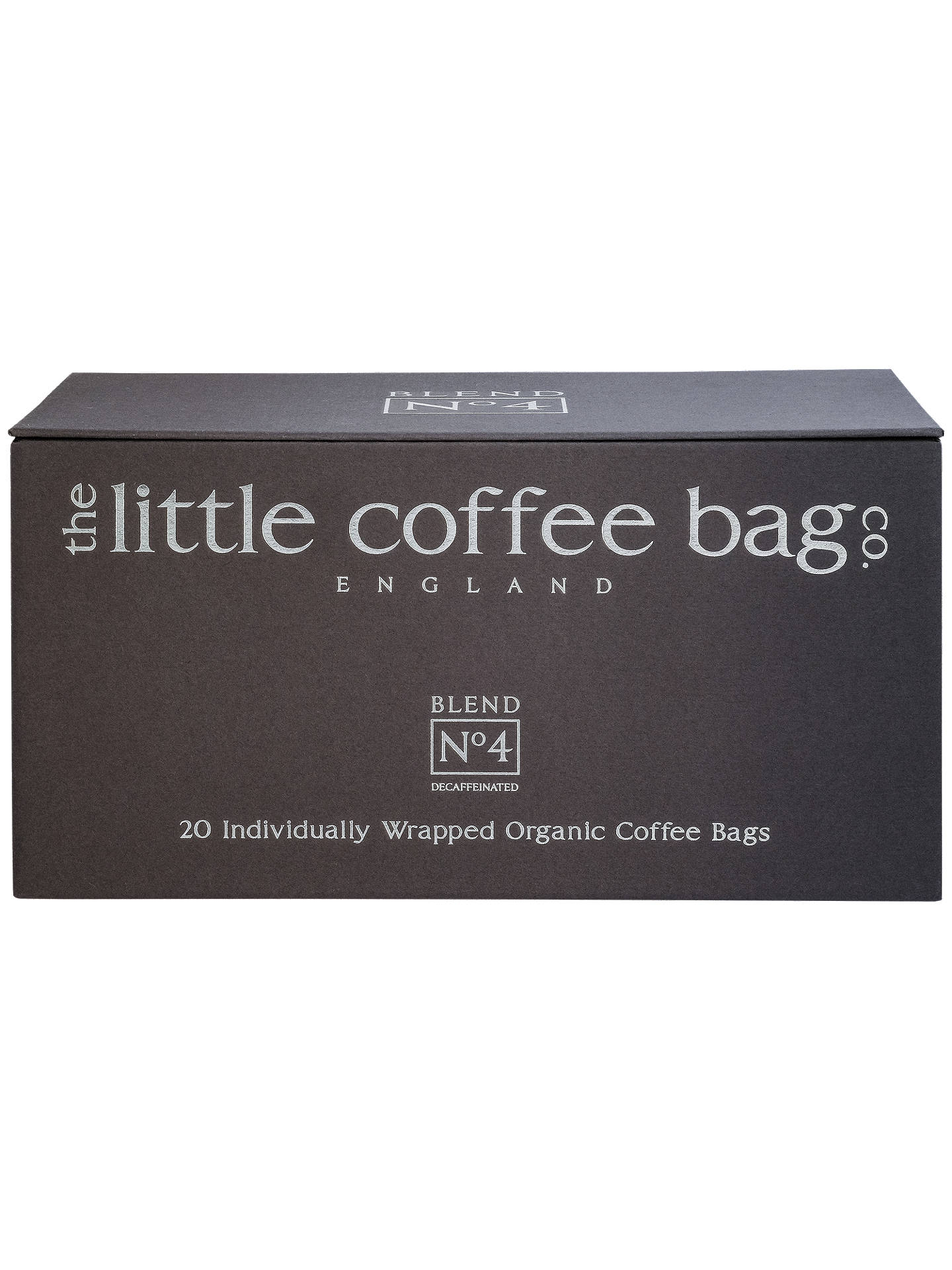 Buy The Little Coffee Bag Co. Blend No.4 Coffee Bags, Pack of 20, 400g Online at johnlewis.com