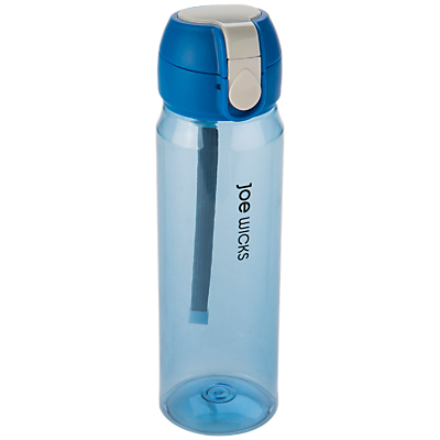 Joe Wicks Clip One Touch Water Bottle, 550ml, Blue