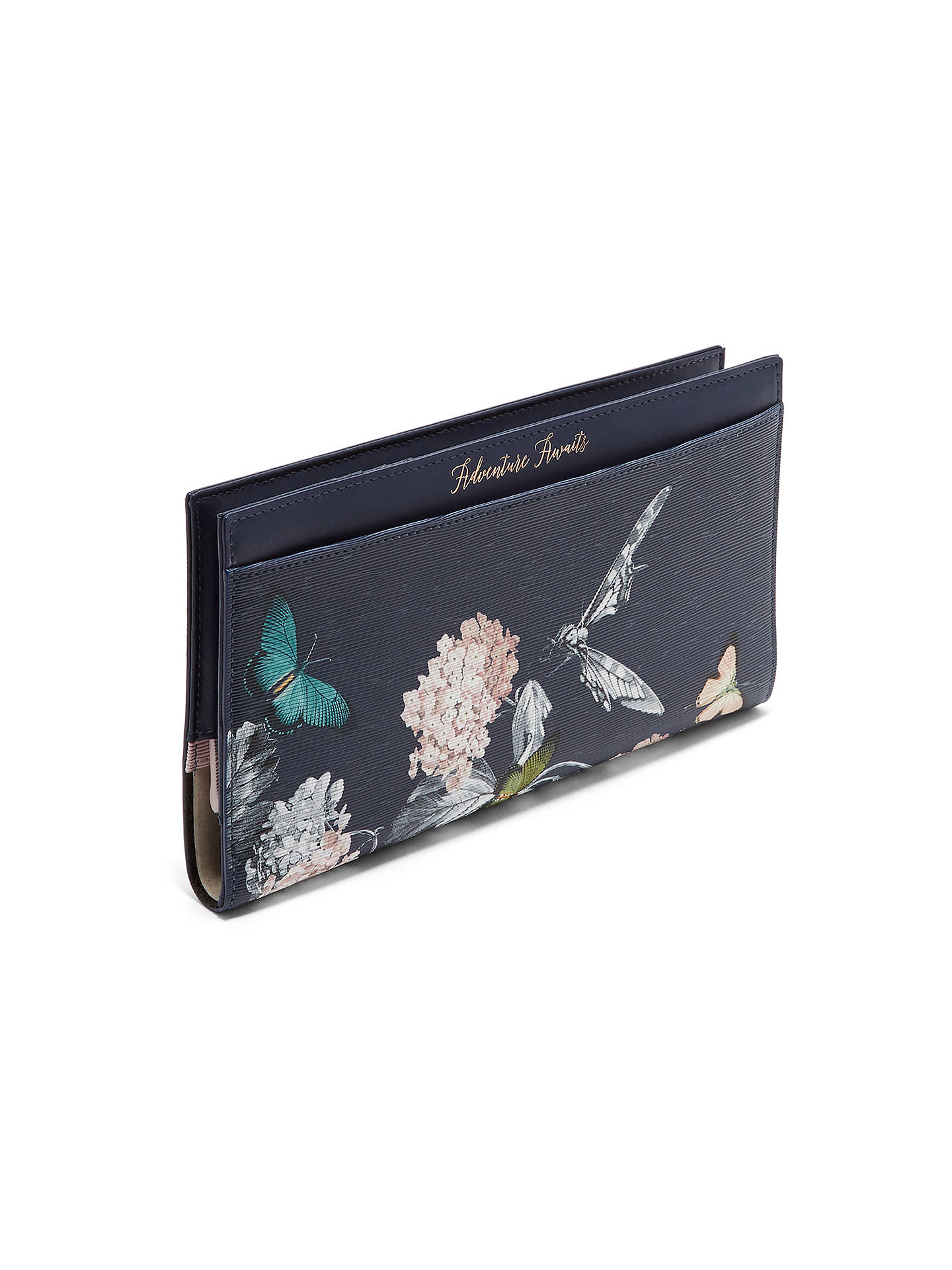BuyTed Baker Landry Narrnia Leather Travel Wallet & Passport Holder, Blue Online at johnlewis.com