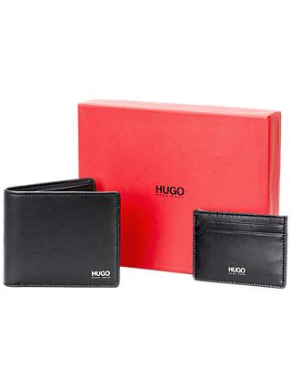 62d16d37a42 BOSS Galliz Leather Wallet and Card Holder Gift Set