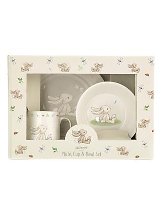 Jellycat Bashful Bunny Plate and Bowl Set