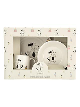Jellycat Bashful Puppy Plate and Bowl Set
