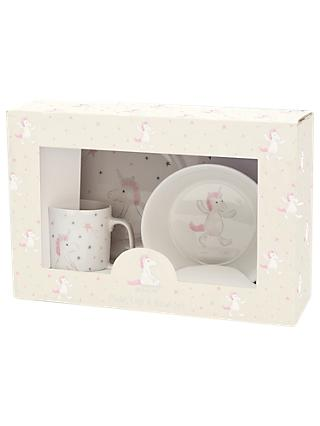 Jellycat Bashful Unicorn Plate and Bowl Set