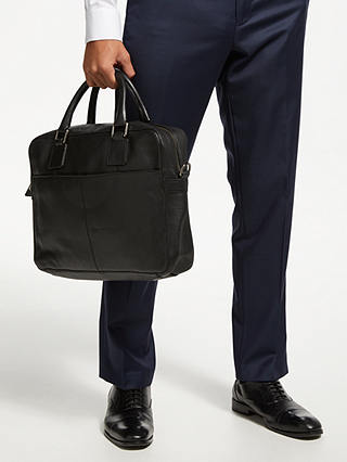 Buy John Lewis & Partners Gladstone 2.0 Laptop Leather Briefcase, Black Online at johnlewis.com