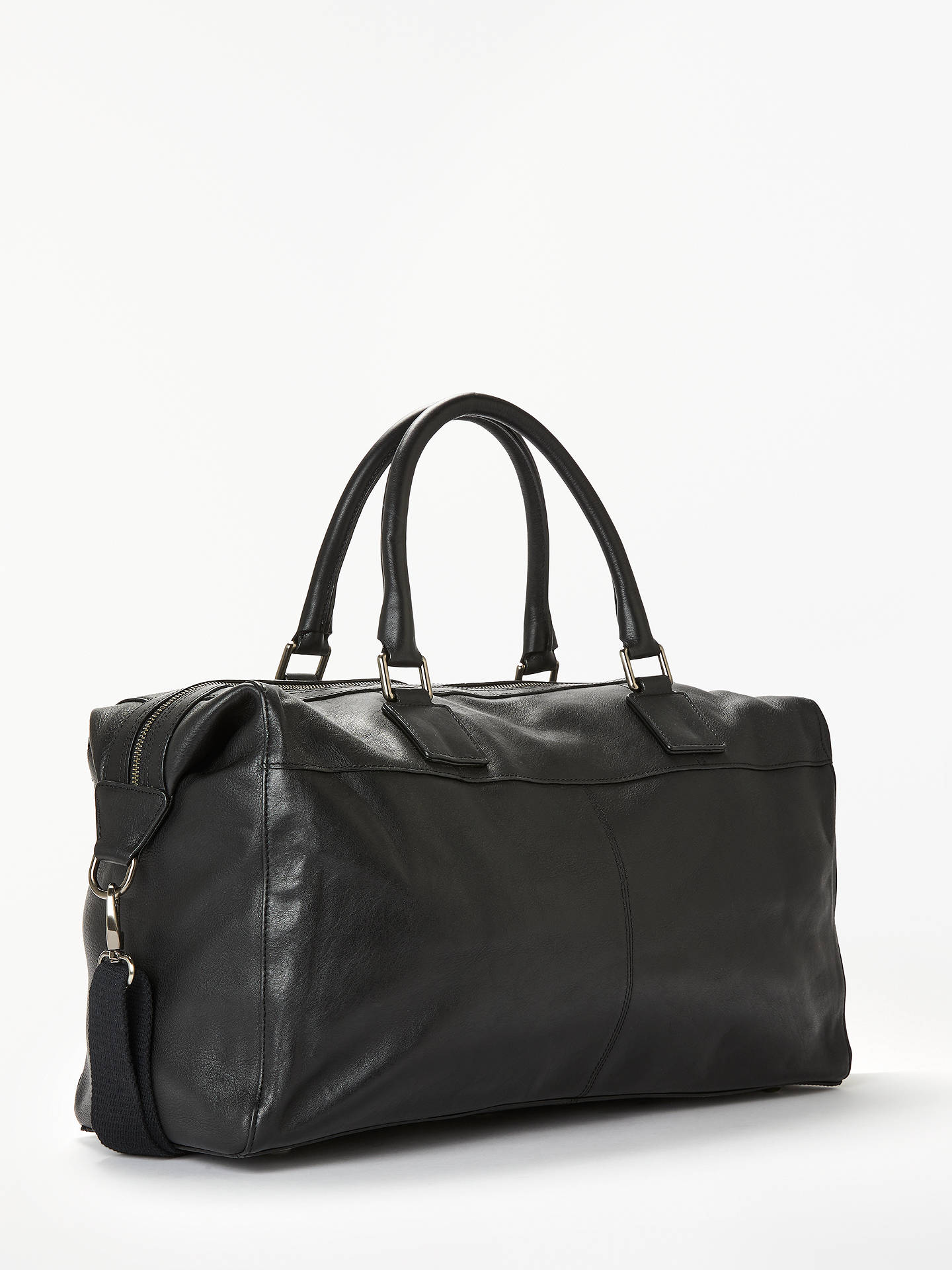 Buy John Lewis & Partners Gladstone 2.0 Leather Holdall, Black Online at johnlewis.com