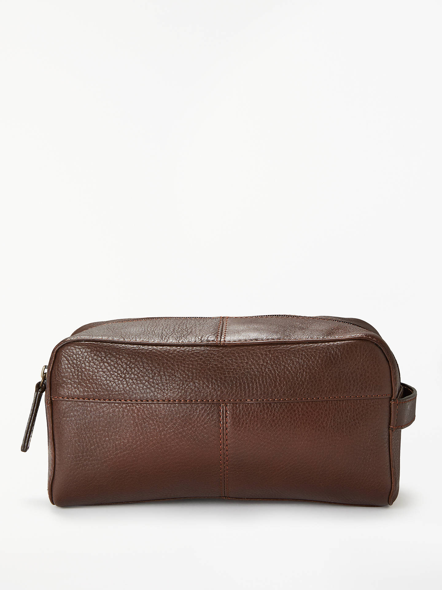 73a96d44f15b Buy John Lewis & Partners Gladstone Wash Bag, Dark Brown Online at johnlewis.  ...