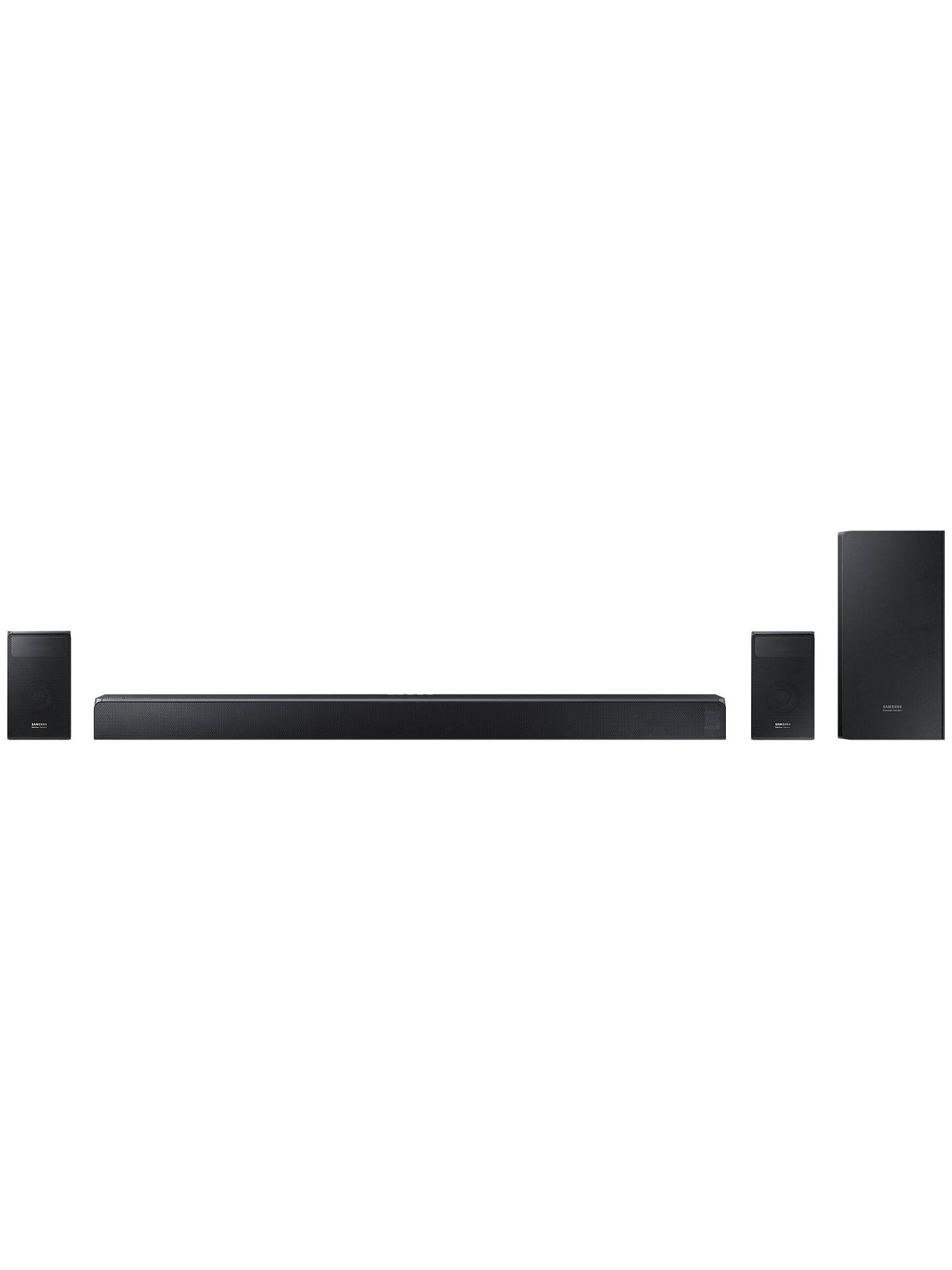 Buy Samsung harman/kardon HW-N950 Bluetooth Wi-Fi Sound Bar with Dolby Atmos, Wireless Subwoofer & Rear Speakers Online at johnlewis.com