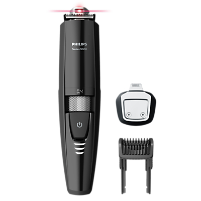 Image of Philips BT9299/13 Series 9000 Laser Guided Beard Trimmer, Black