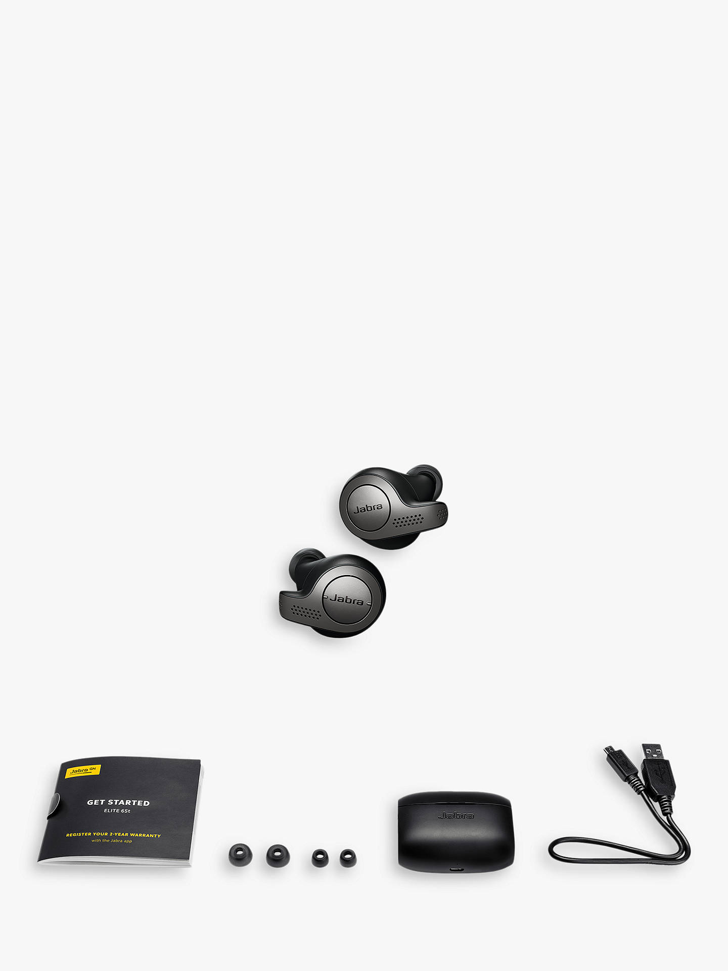 Jabra Elite 65t True Wireless Bluetooth In Ear Headphones With Mic Remote At John Lewis Partners
