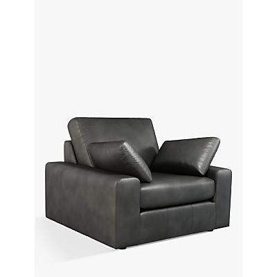 John Lewis & Partners Prism Leather Armchair, Dark Leg