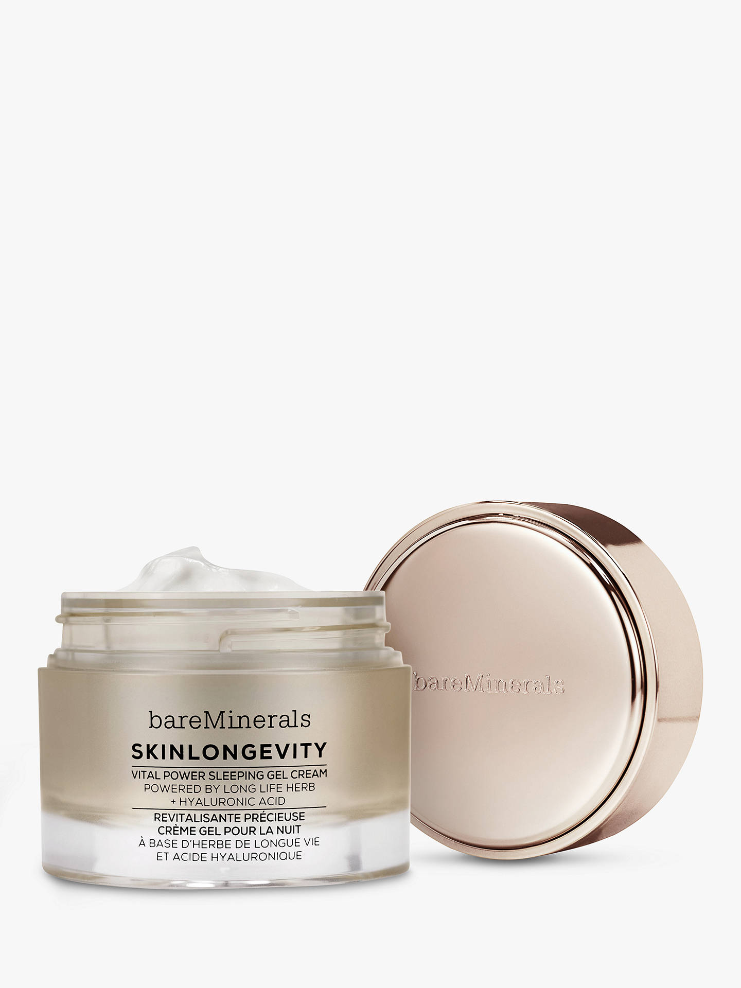Buy bareMinerals SkinLongevity® Vital Power Sleeping Gel Cream, 50ml Online at johnlewis.com