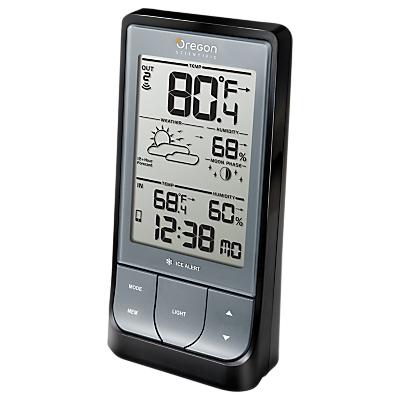 Image of Oregon Scientific Bluetooth LCD Weather Station, BAR218, Black