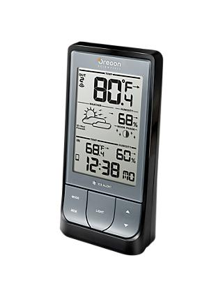 Oregon Scientific Bluetooth LCD Weather Station, BAR218, Black