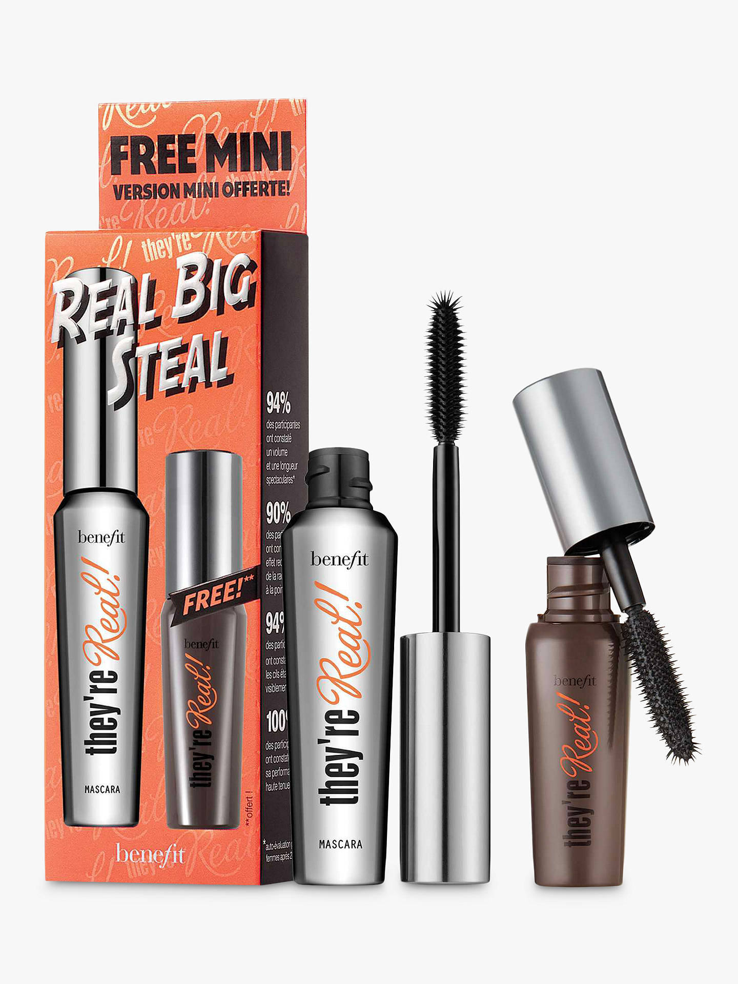 e0bd0375e39 Buy Benefit They're Real Big Steal Lengthening Mascara Duo Online at  johnlewis. ...
