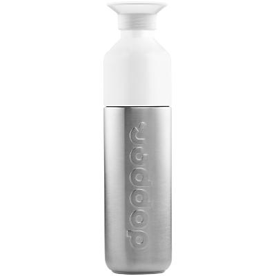 Dopper Stainless Steel Mini Drinks Bottle, 490ml, Silver/White