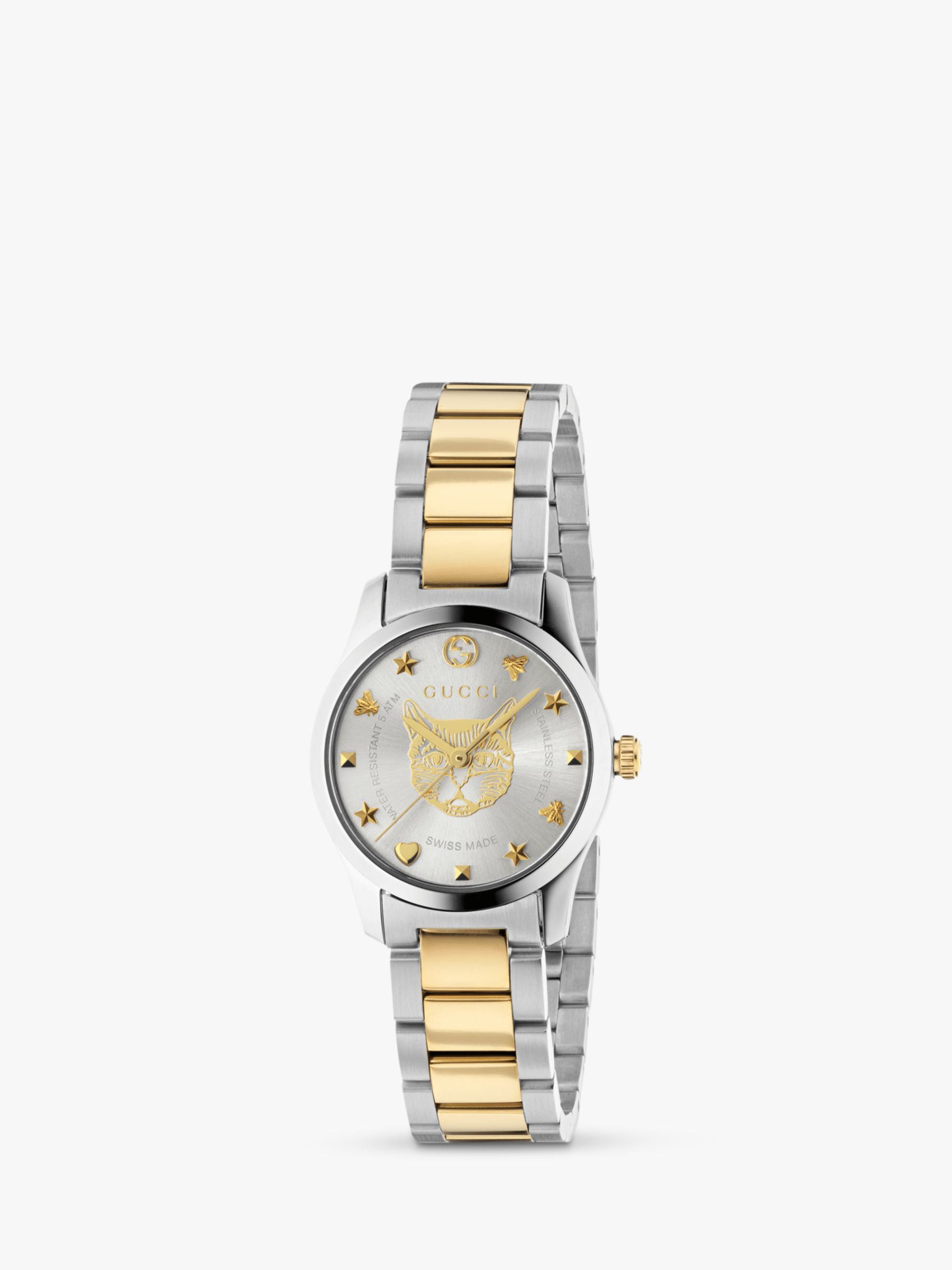 9605e8da2f8 Gucci YA126596 Women s G-Timeless Two Tone Bracelet Strap Watch ...