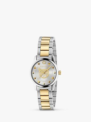 36ab2b725ee Gucci YA126596 Women s G-Timeless Two Tone Bracelet Strap Watch