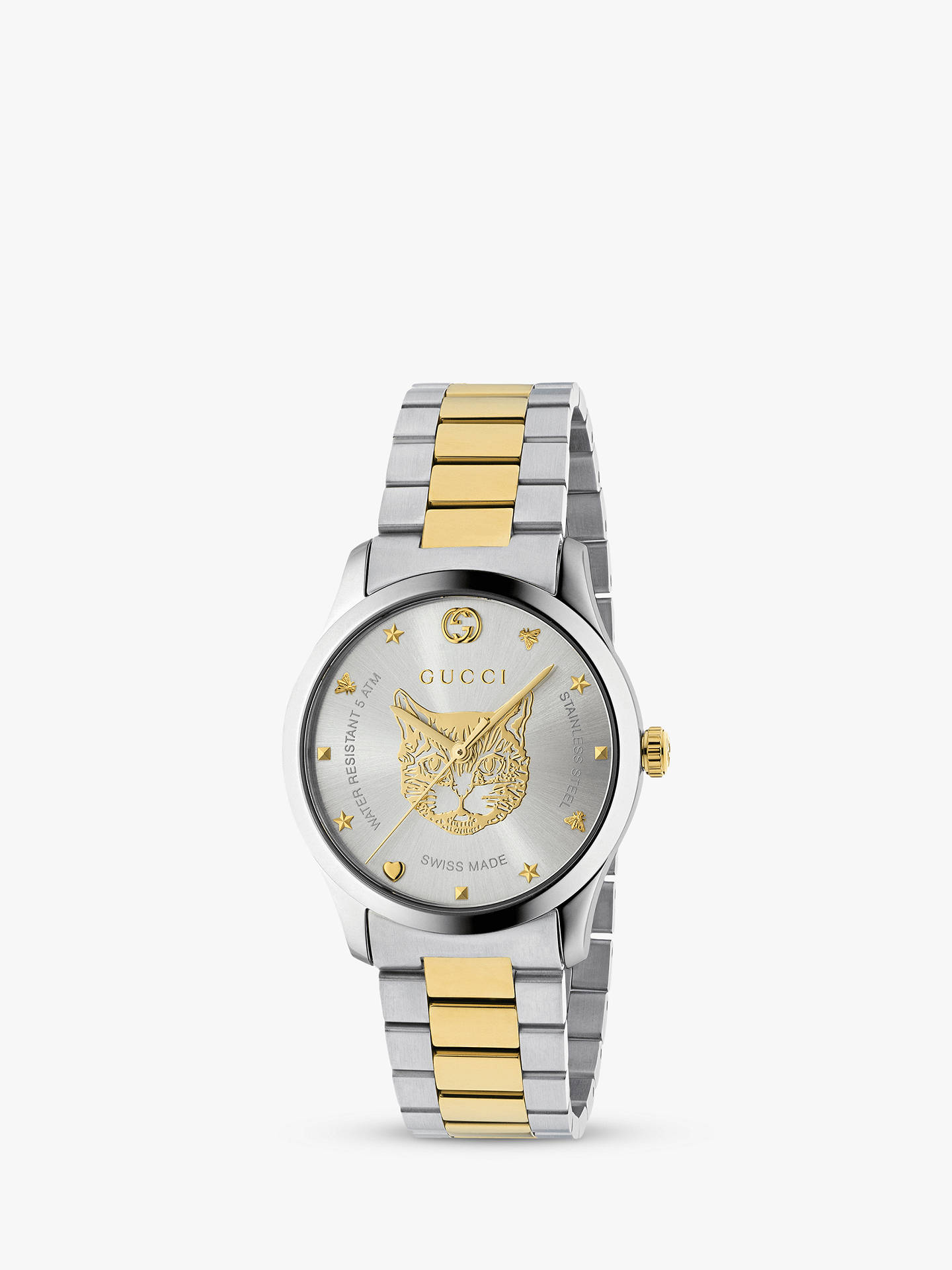a4024c3e3b6 Gucci YA1264074 Women s G-Timeless Two Tone Bracelet Strap Watch ...