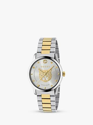 c2f67f38be Gucci YA1264074 Women s G-Timeless Two Tone Bracelet Strap Watch