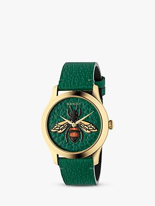 f80c264925b Gucci YA1264065 Unisex G-Timeless Leather Strap Watch