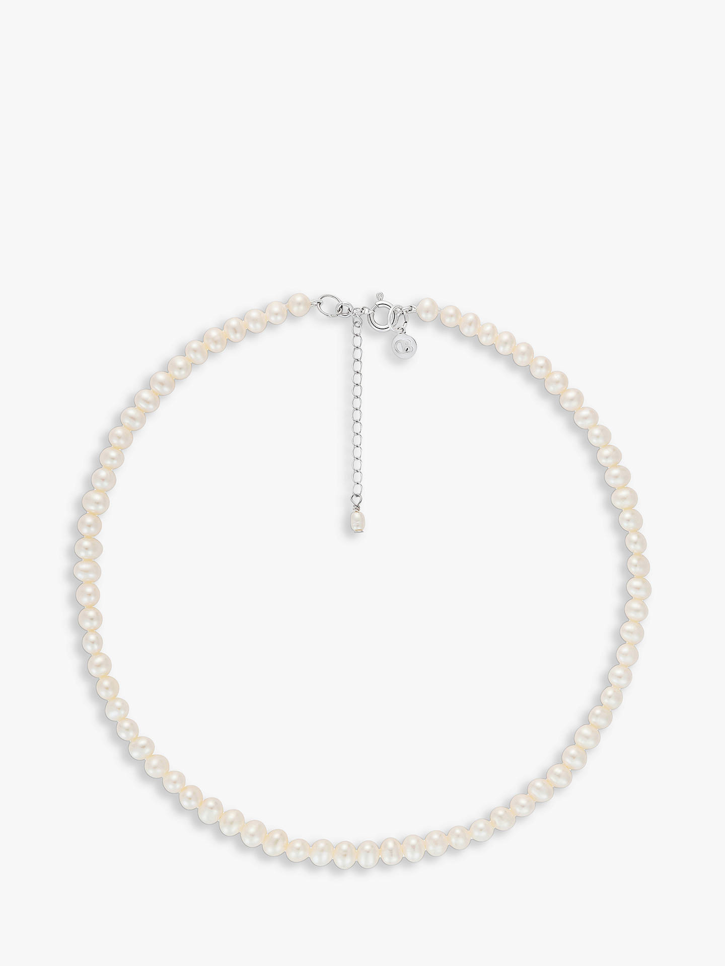 BuyClaudia Bradby Sterling Silver Freshwater Pearl Collar Necklace, White Online at johnlewis.com