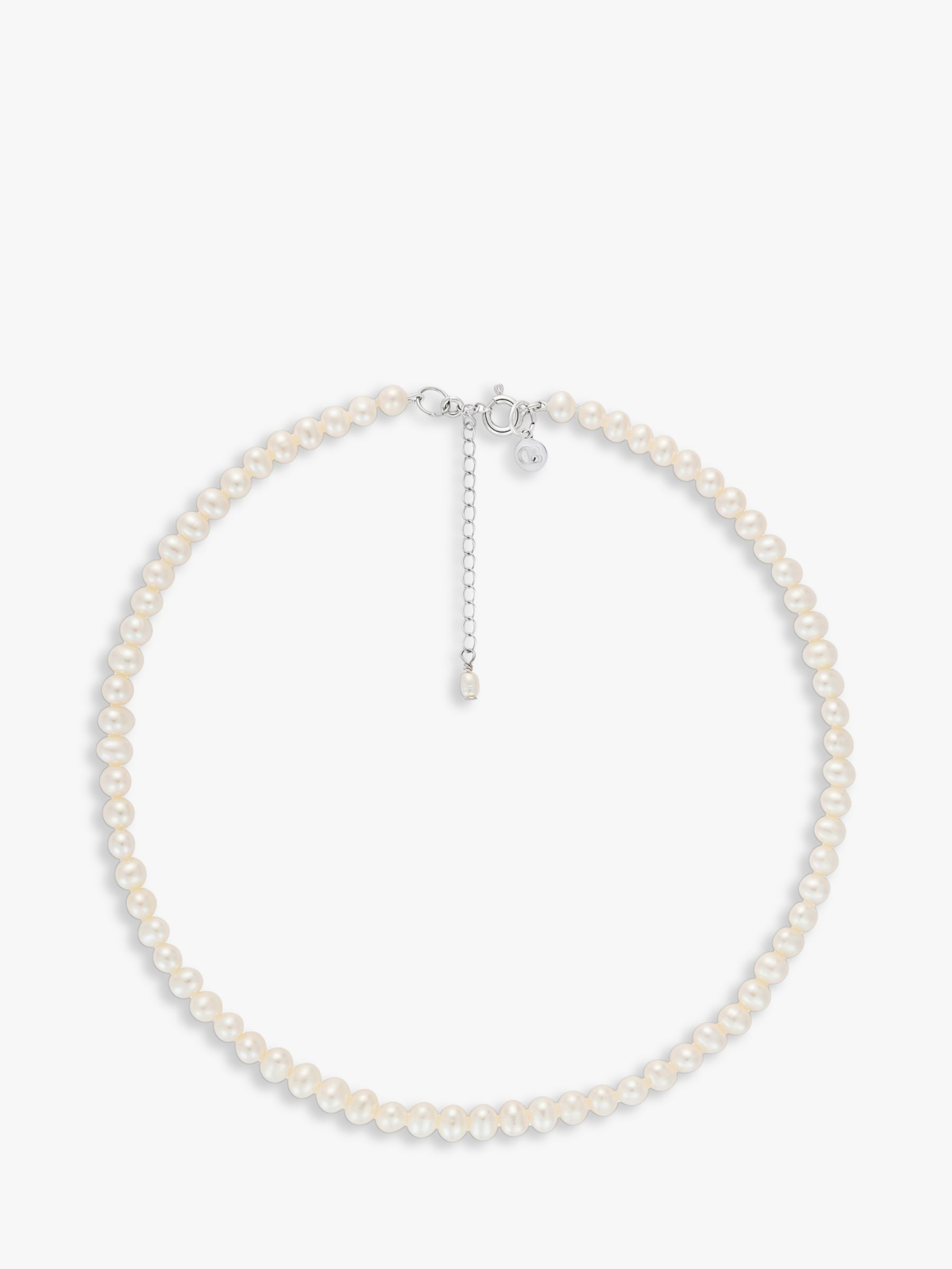 Claudia Bradby Claudia Bradby Sterling Silver Freshwater Pearl Collar Necklace, White