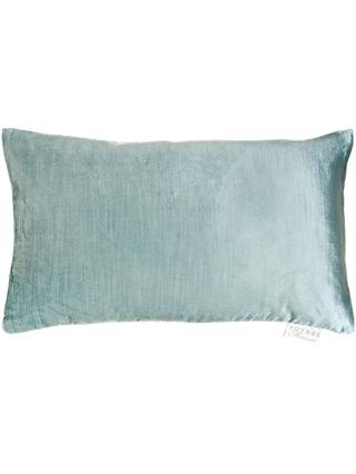 Voyage Velvet Como Cushion, Duck Egg