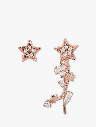 Olivia Burton Crystal Star Stud Earrings, Rose Gold OBJ16CLE02