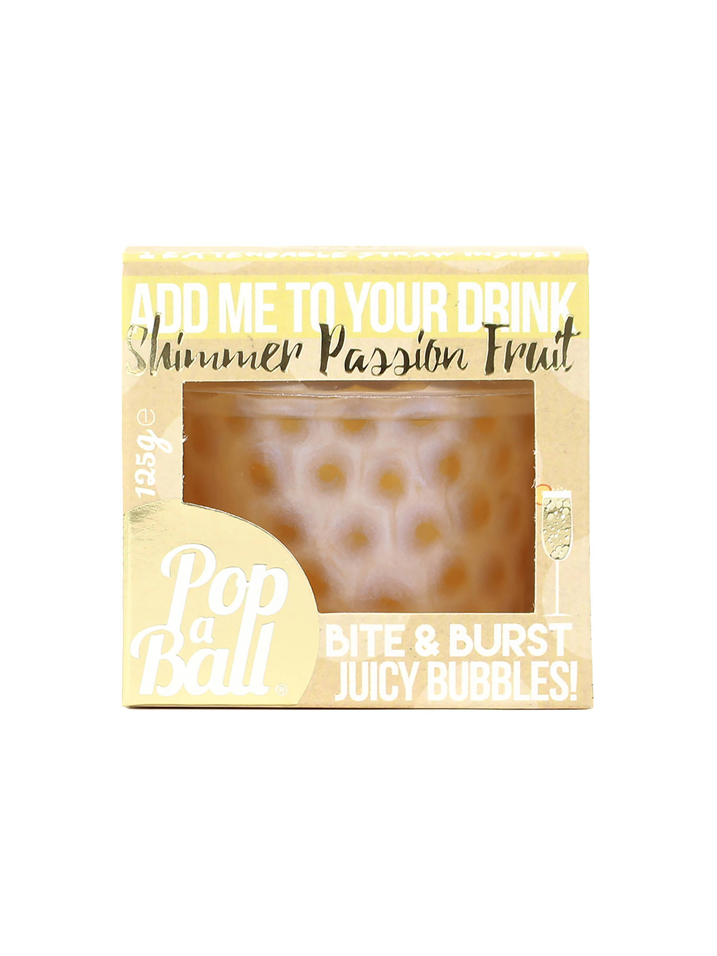 Buy Popaball Shimmer Bubbles, Passion Fruit, 125g Online at johnlewis.com