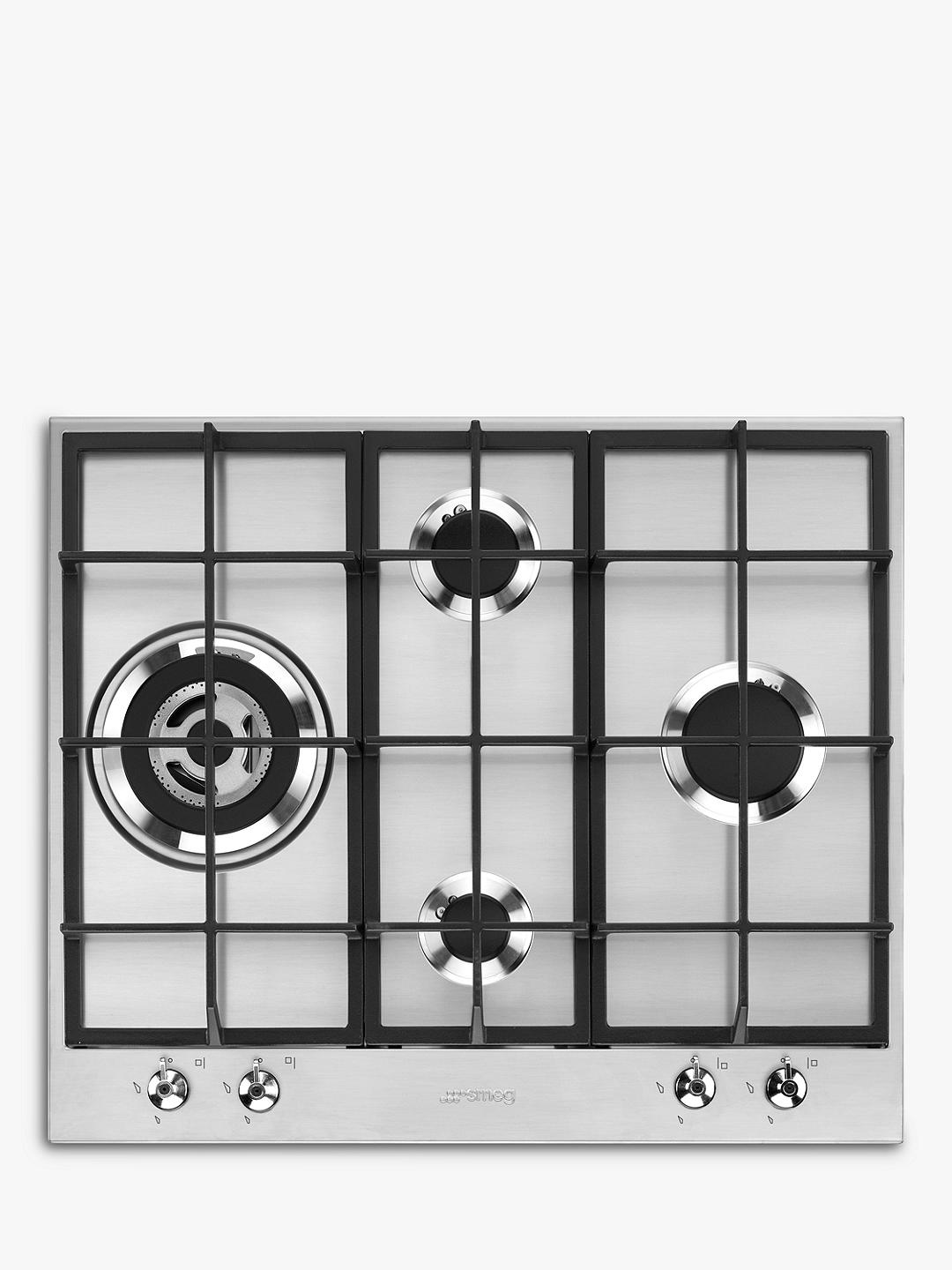 Buy Smeg PX364L 60cm Gas Hob, Stainless Steel Online at johnlewis.com