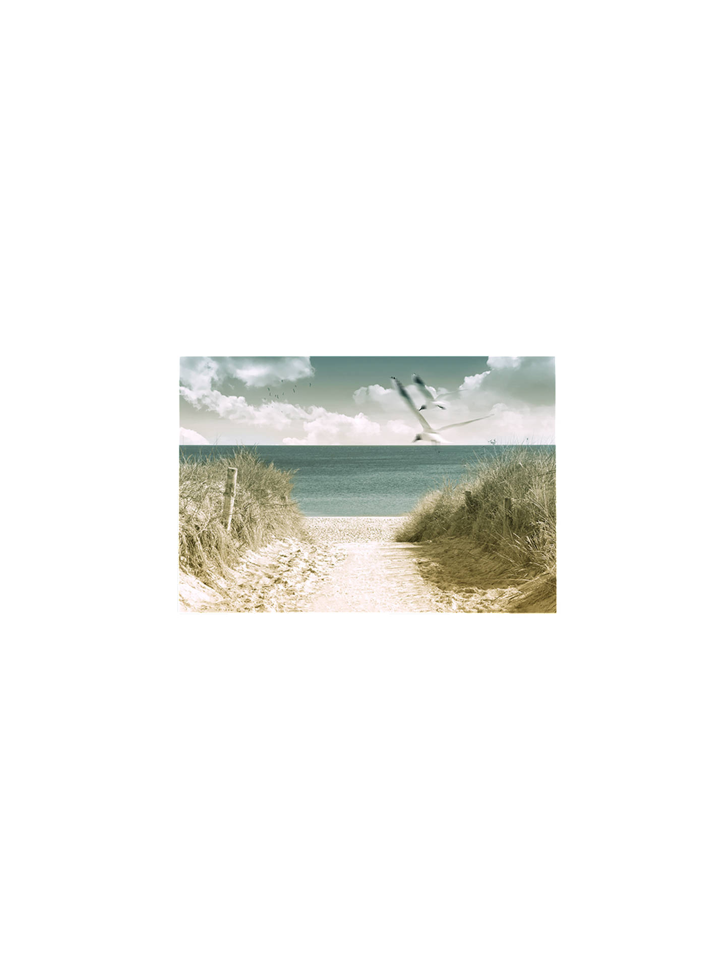 BuyBrookpace Beach View Glass Art Print, 70 x 100cm Online at johnlewis.com