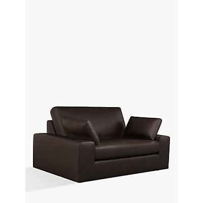 John Lewis & Partners Prism Small 2 Seater Leather Sofa, Dark Leg