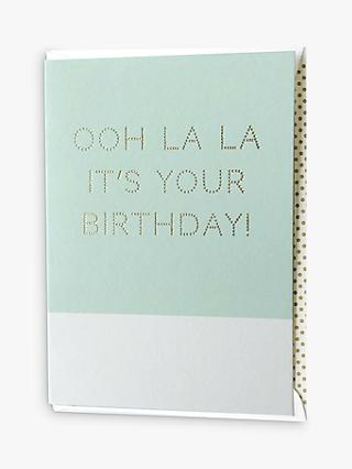 Megan Claire Ooh La La Birthday Card