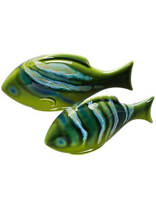 Poole Pottery Maya Fish, Set of 2