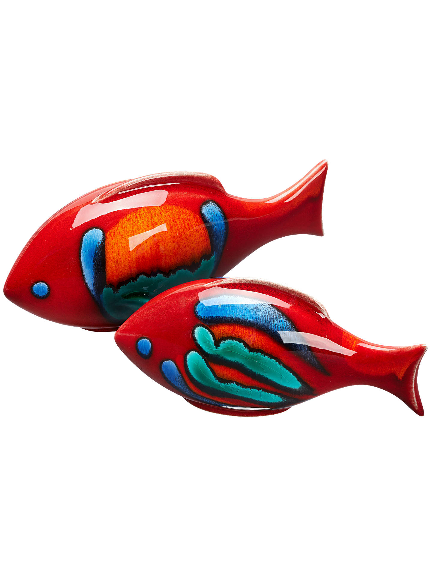 Buy Poole Pottery Volcano Fish, Set of 2 Online at johnlewis.com