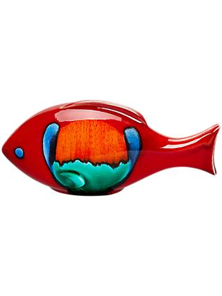 Poole Pottery Volcano Fish, Single