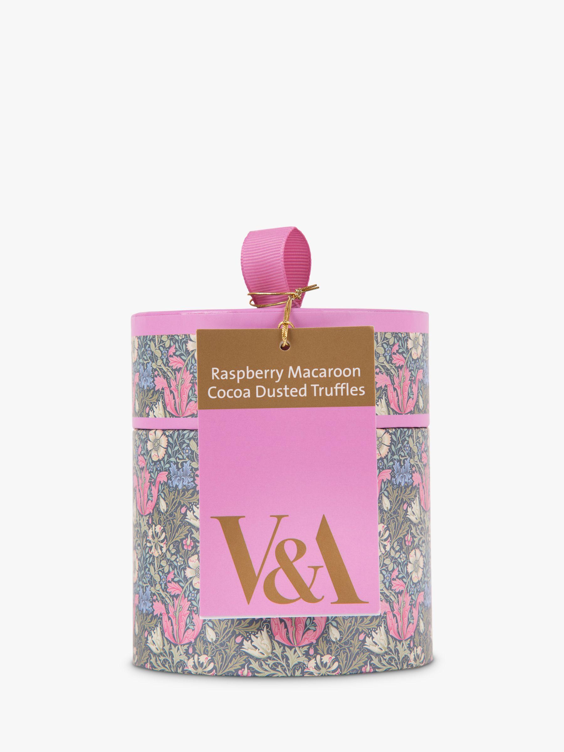 V&A V&A Raspberry Macaroon Truffles, 100g